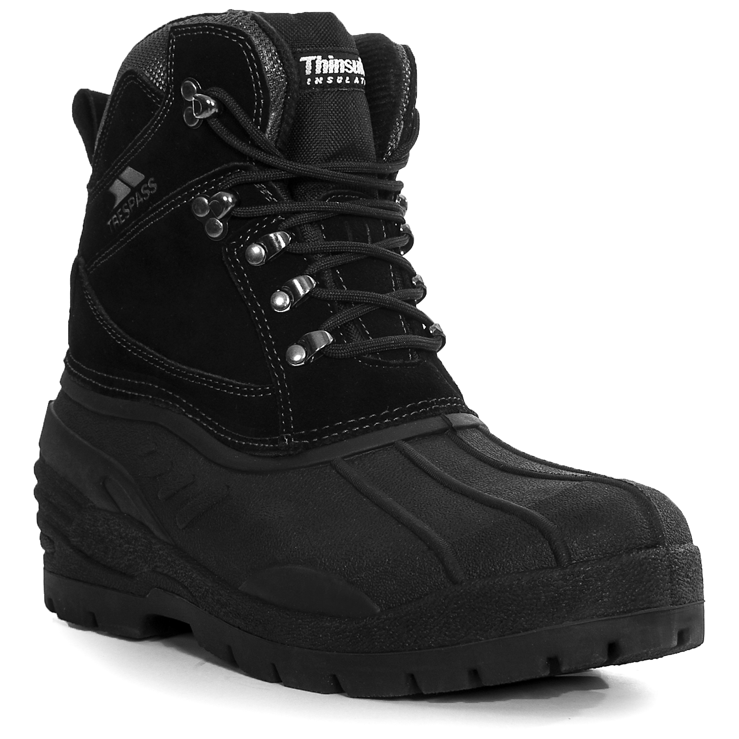 trespass aldor mens waterproof winter snow boots