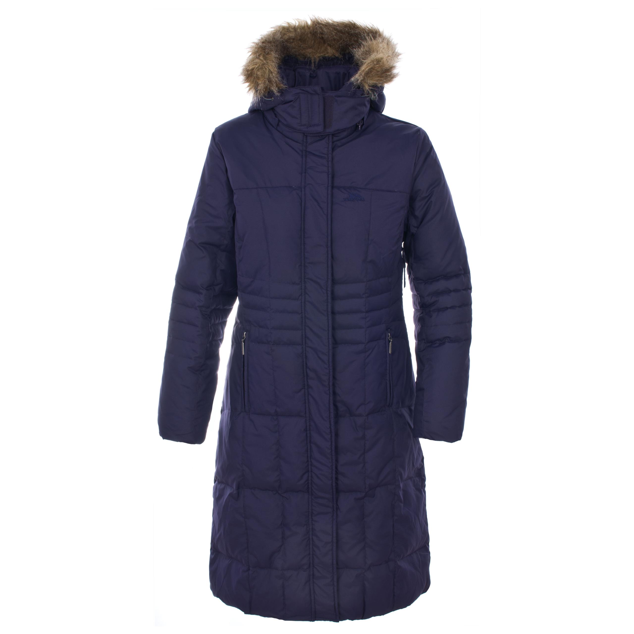 Trespass LADNA Womens Ladies Hooded Casual Coat Longer Length Jacket