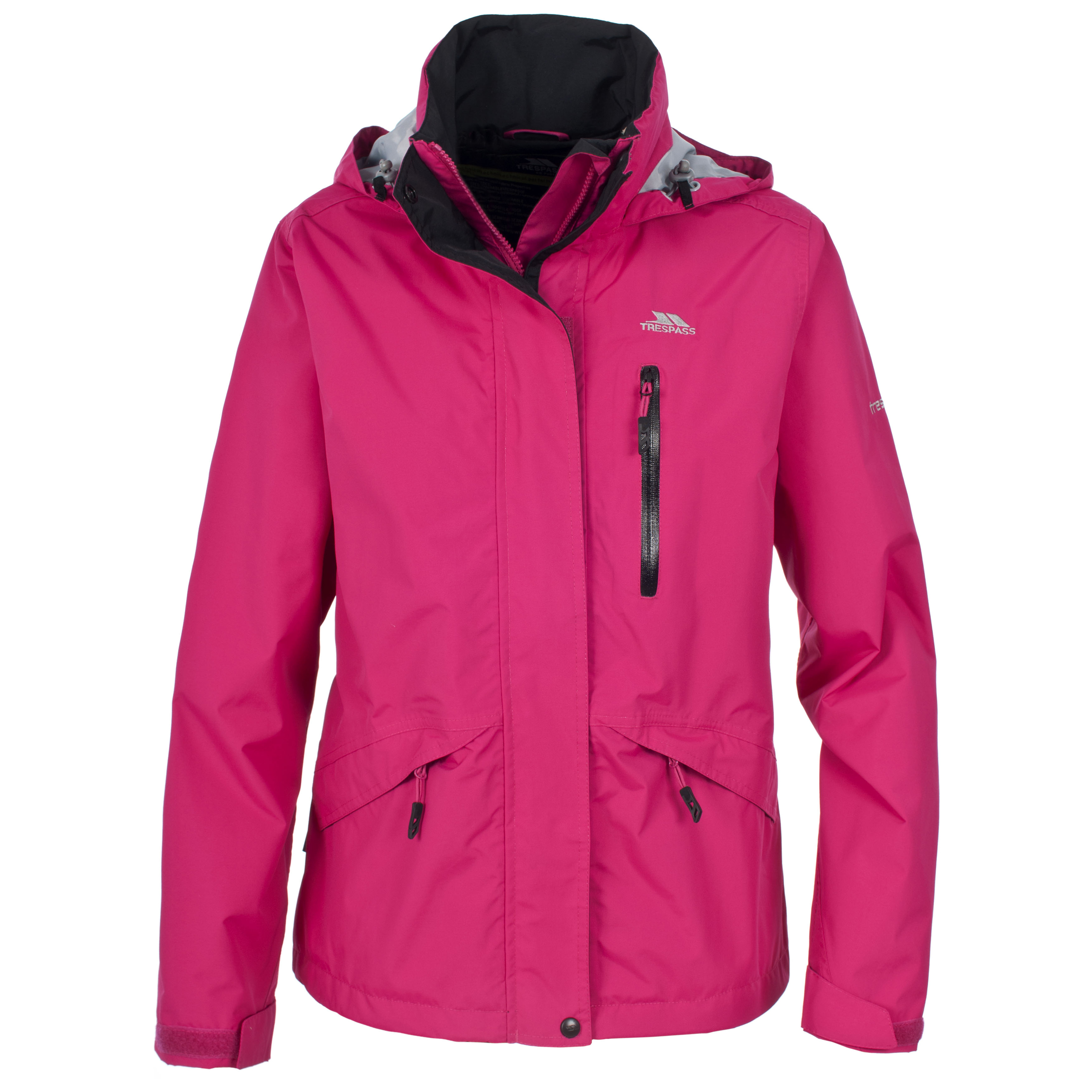 Another one of the more stylish rain jackets for women, this jacket from Columbia is the perfect blend of multifunctional and wearable. An inner drawcord waist allows for an adjustable fit while its omni-tech technology keeps the jacket waterproof and breathable.