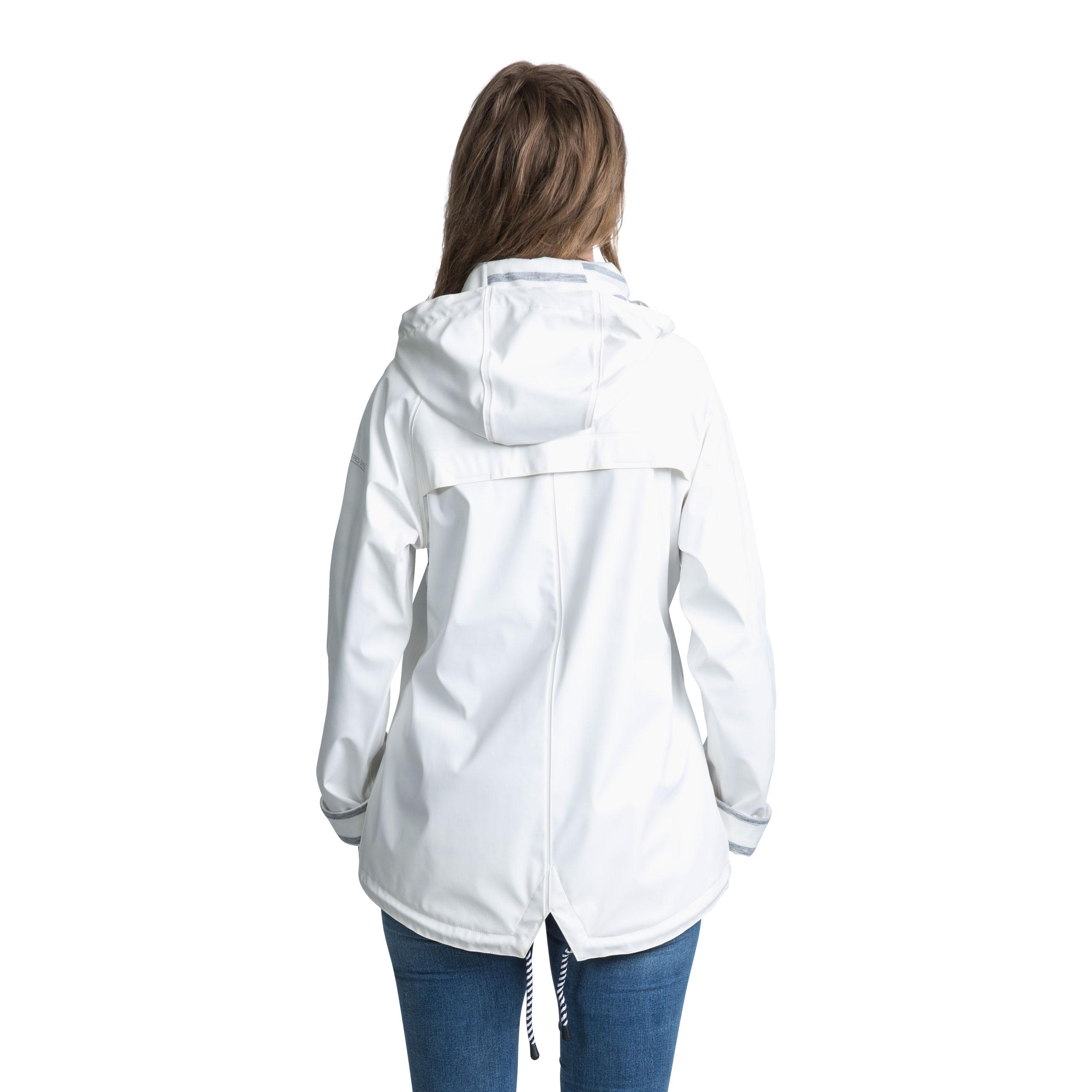 Trespass Muddle Womens Waterproof Jacket Hooded Raincoat Yellow White Blue