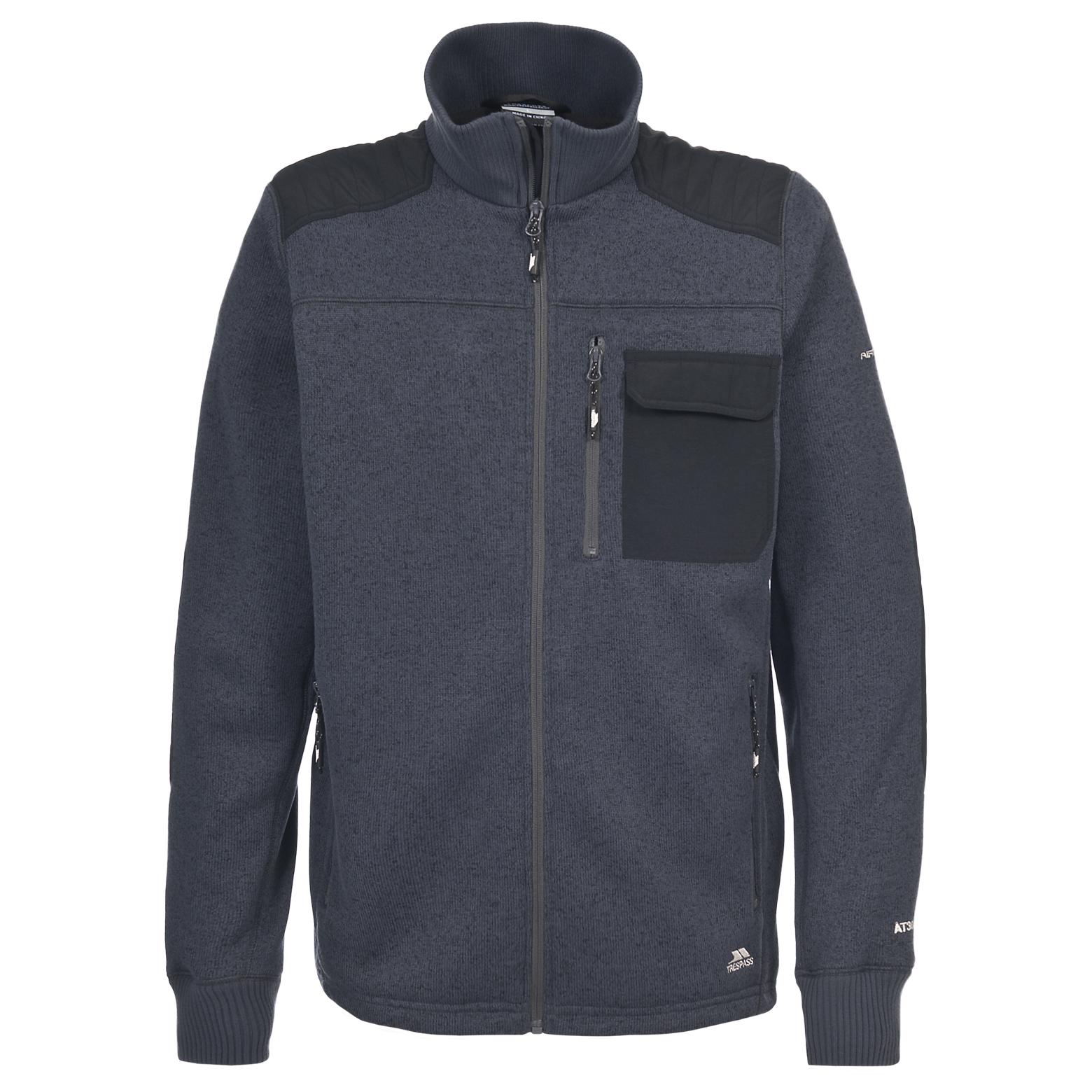 Trespass Rockvale Mens Full Zip Knitted Fleece Jacket eBay