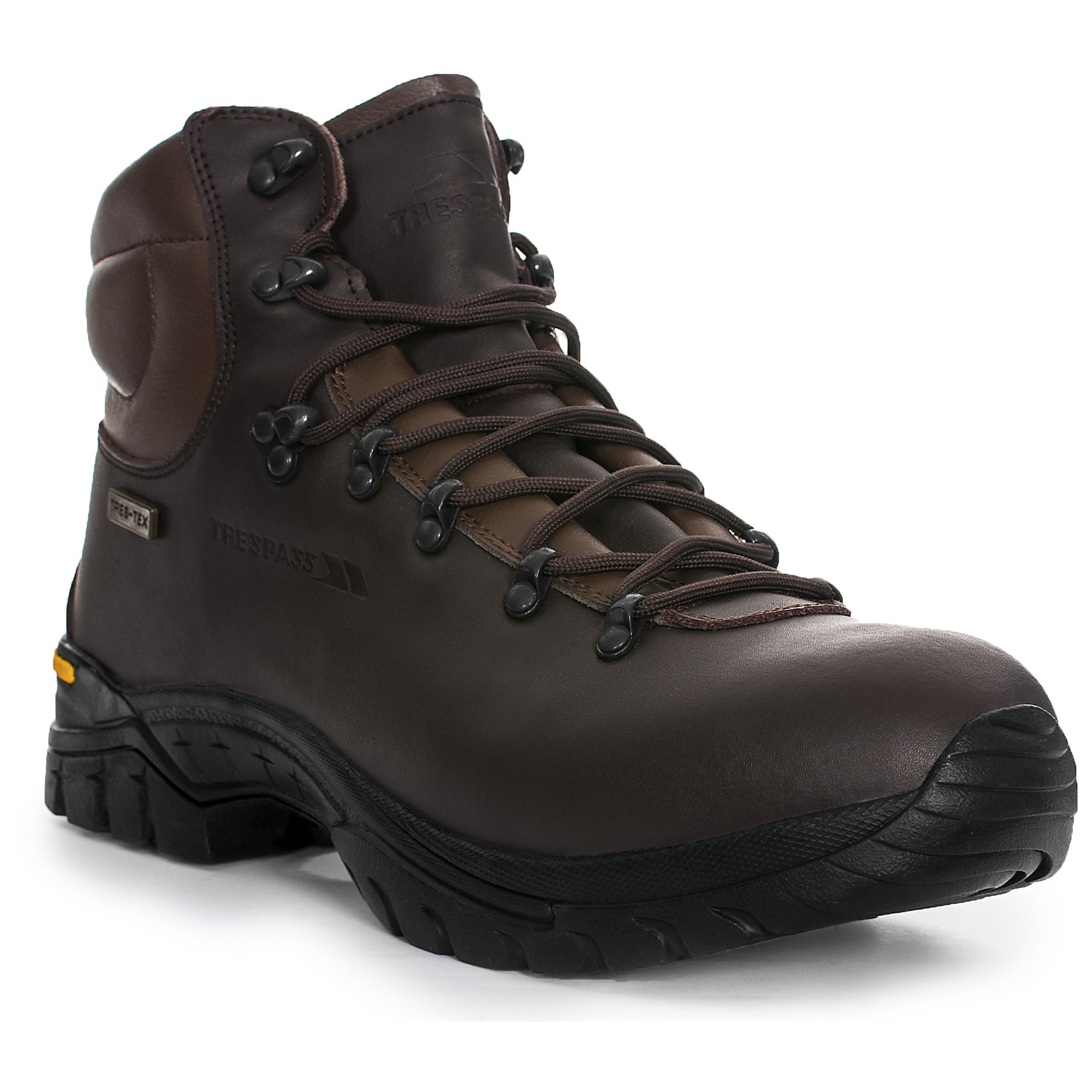 trespass walker mens waterproof walking hiking trail shoes