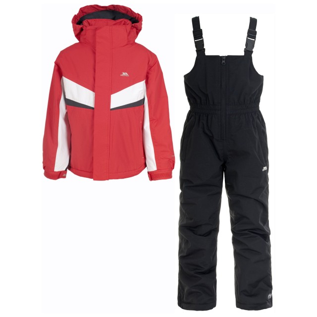 View all kids ski wear Keep the kids all wrapped up and protected against the wind and snow on your ski trip this season with our collection of kids ski jackets, featuring fantastic offerings from Nevica, Spyder and more. We have a range of both boys and girls ski jackets with many different styles, colours and patterns to choose from.