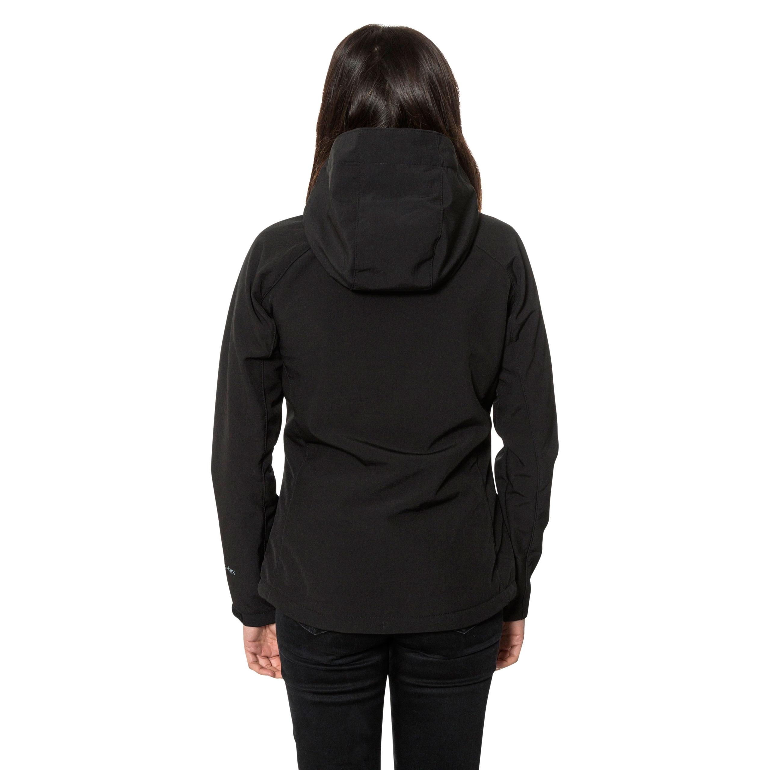 Trespass-Bela-Womens-Soft-Shell-Jacket-Breathable-in-Black-amp-Purple thumbnail 16