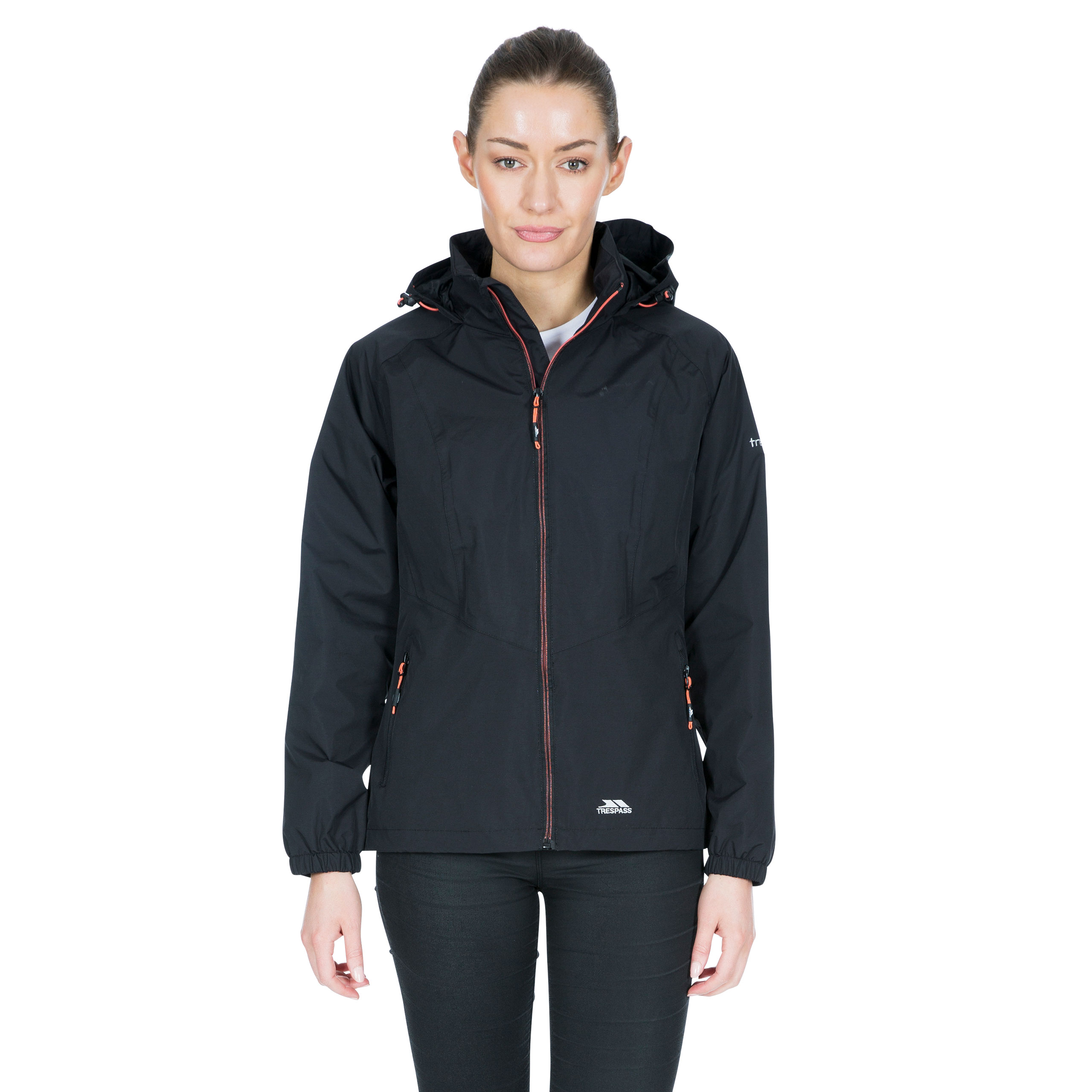 Trespass-Blyton-Womens-Waterproof-Jacket-With-Hood-in-Black-Navy-Pink-Blue thumbnail 14