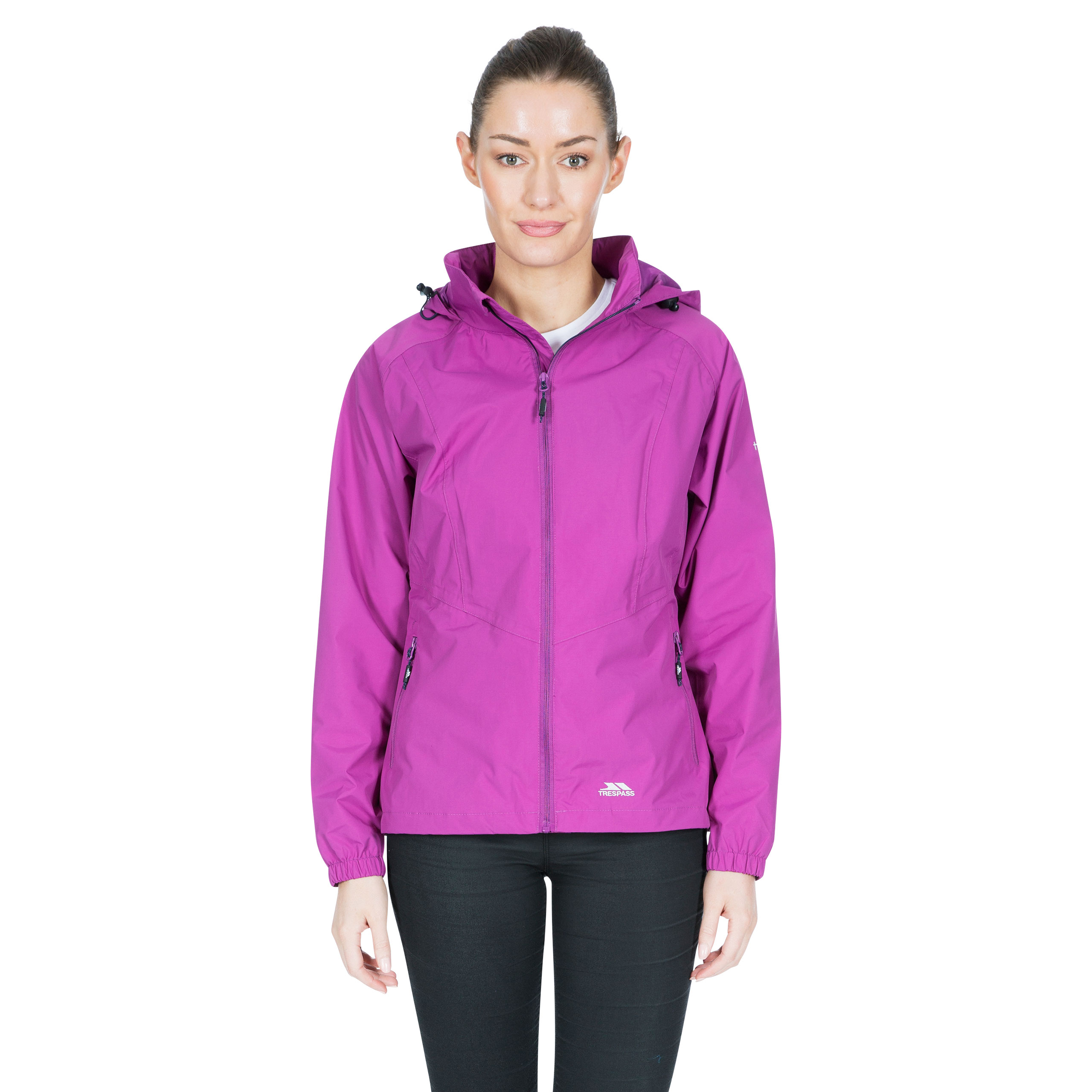 Trespass-Blyton-Womens-Waterproof-Jacket-With-Hood-in-Black-Navy-Pink-Blue thumbnail 18