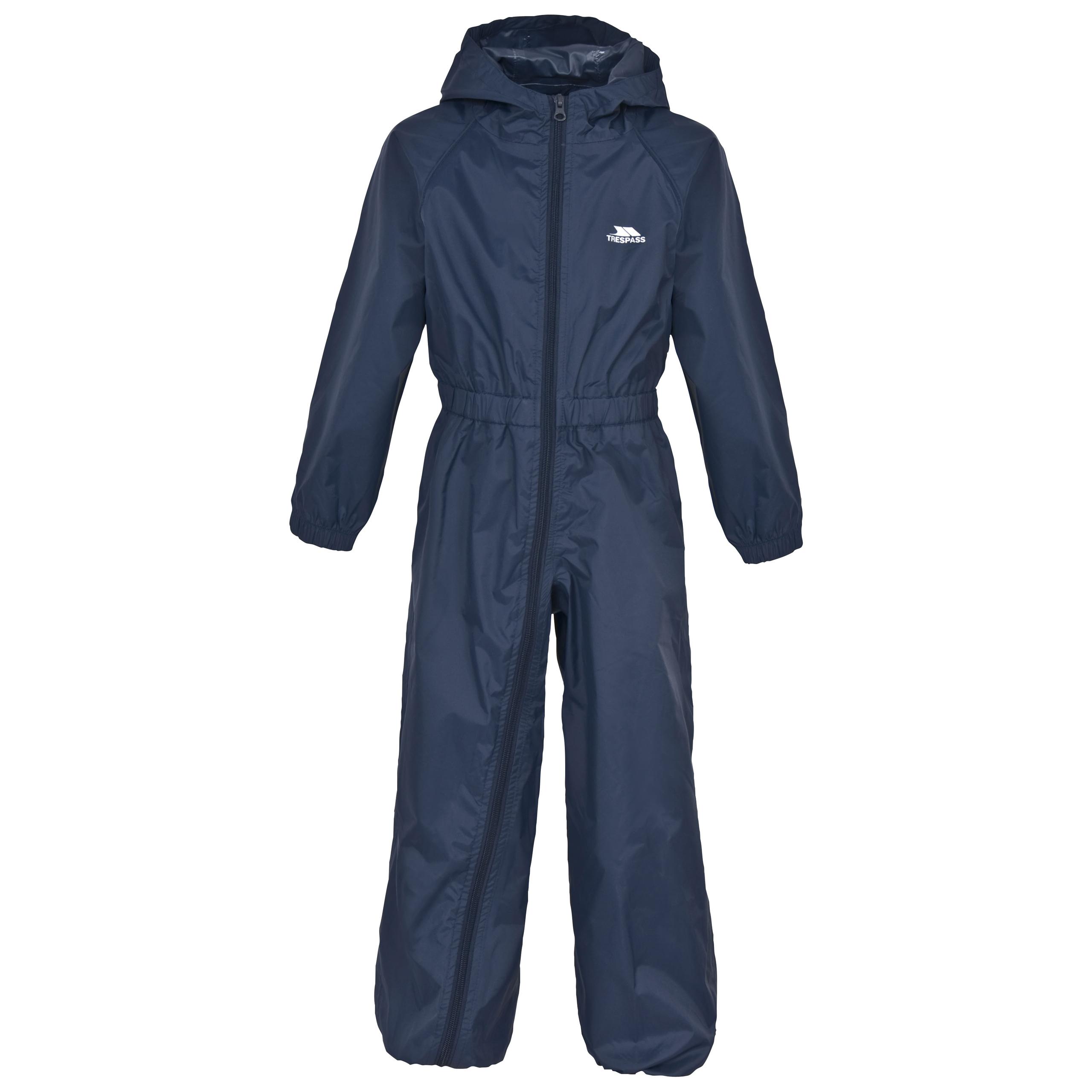 Trespass-Button-Kids-Waterproof-Rain-Suit-Boys-Girls-Windproof-All-In-One-Jacket thumbnail 16
