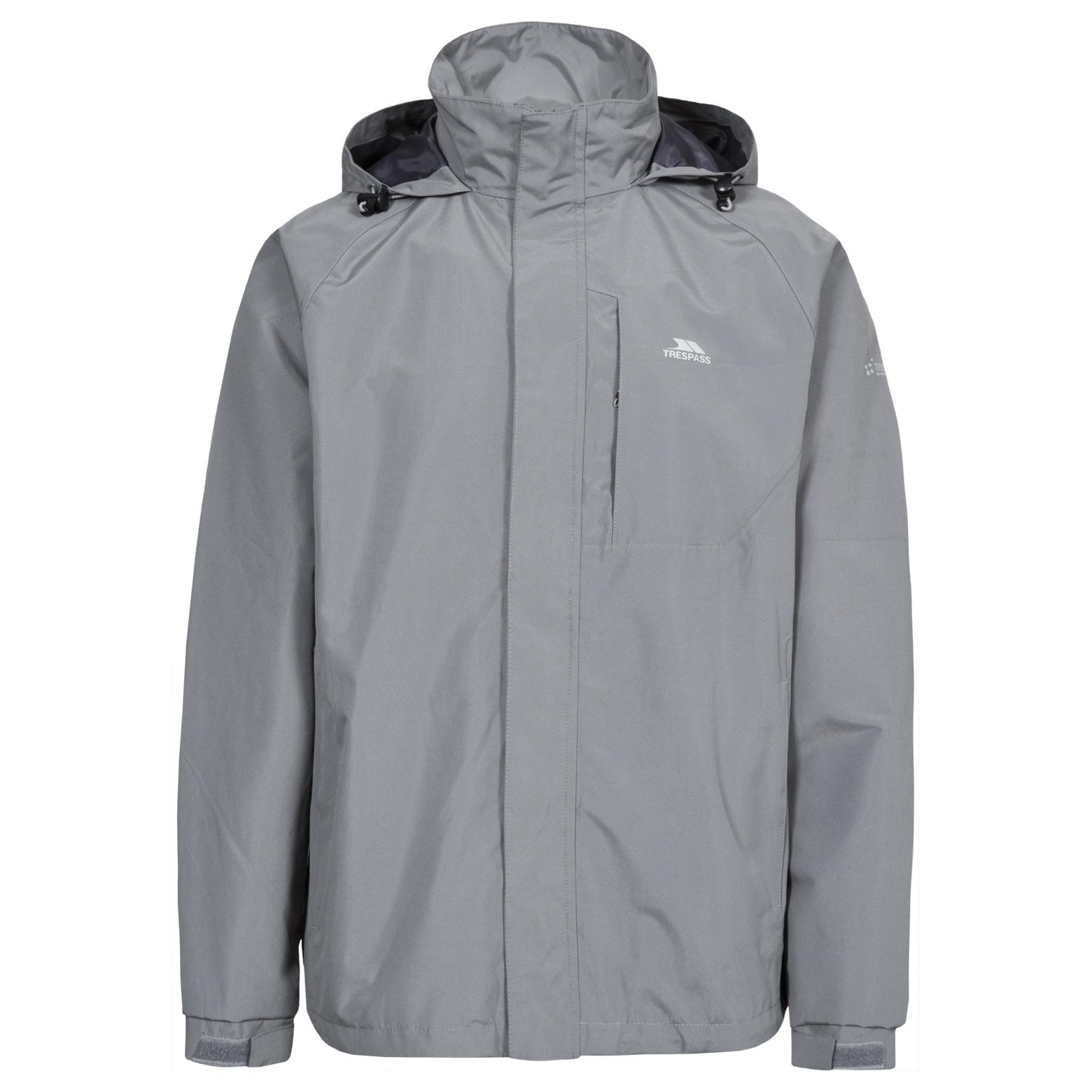 Trespass-Census-Mens-Waterproof-Hooded-Raincoat-Windproof-Jacket-with-Hood