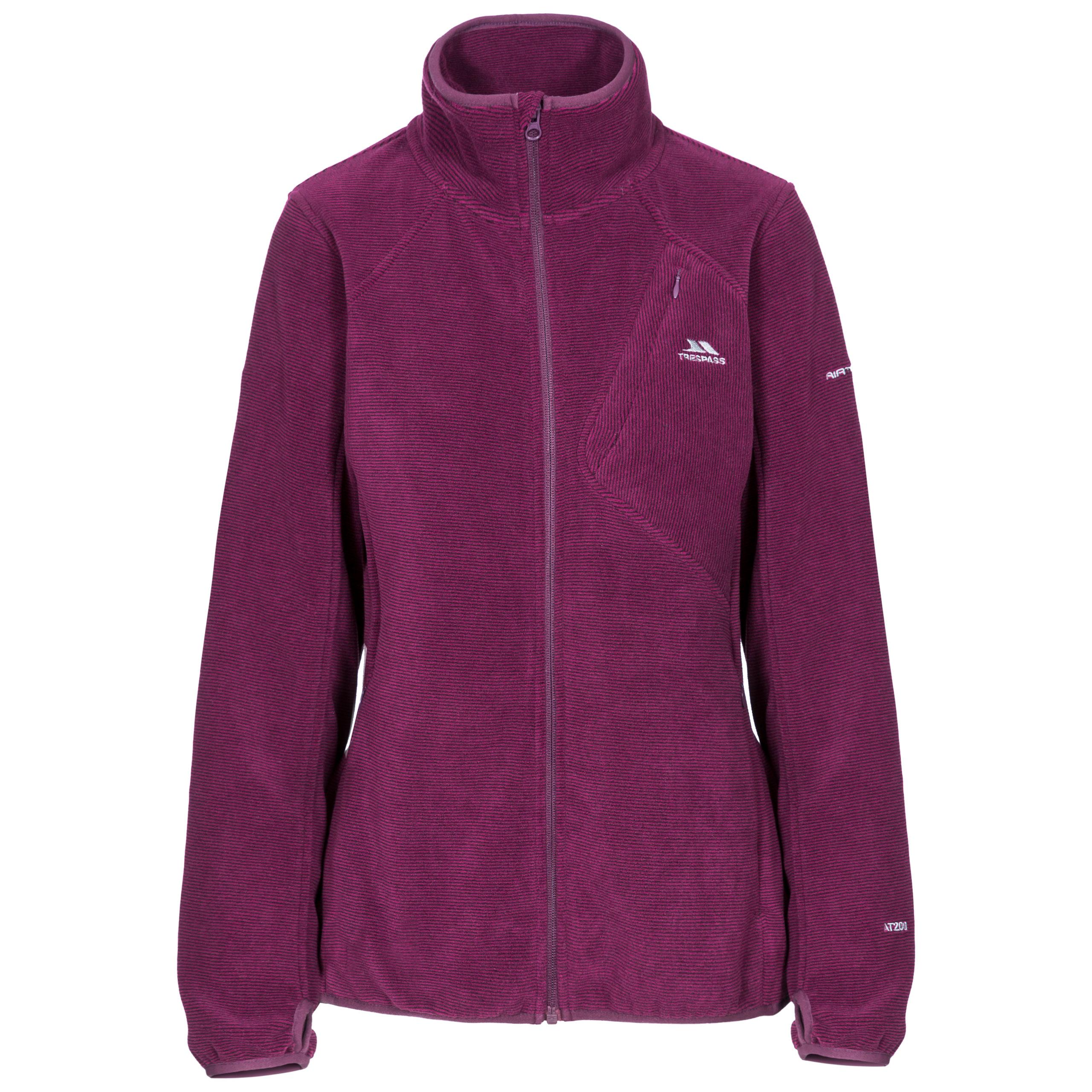 Trespass-Ciaran-Womens-Fleece-Jacket-in-Green-Navy-amp-Purple thumbnail 13