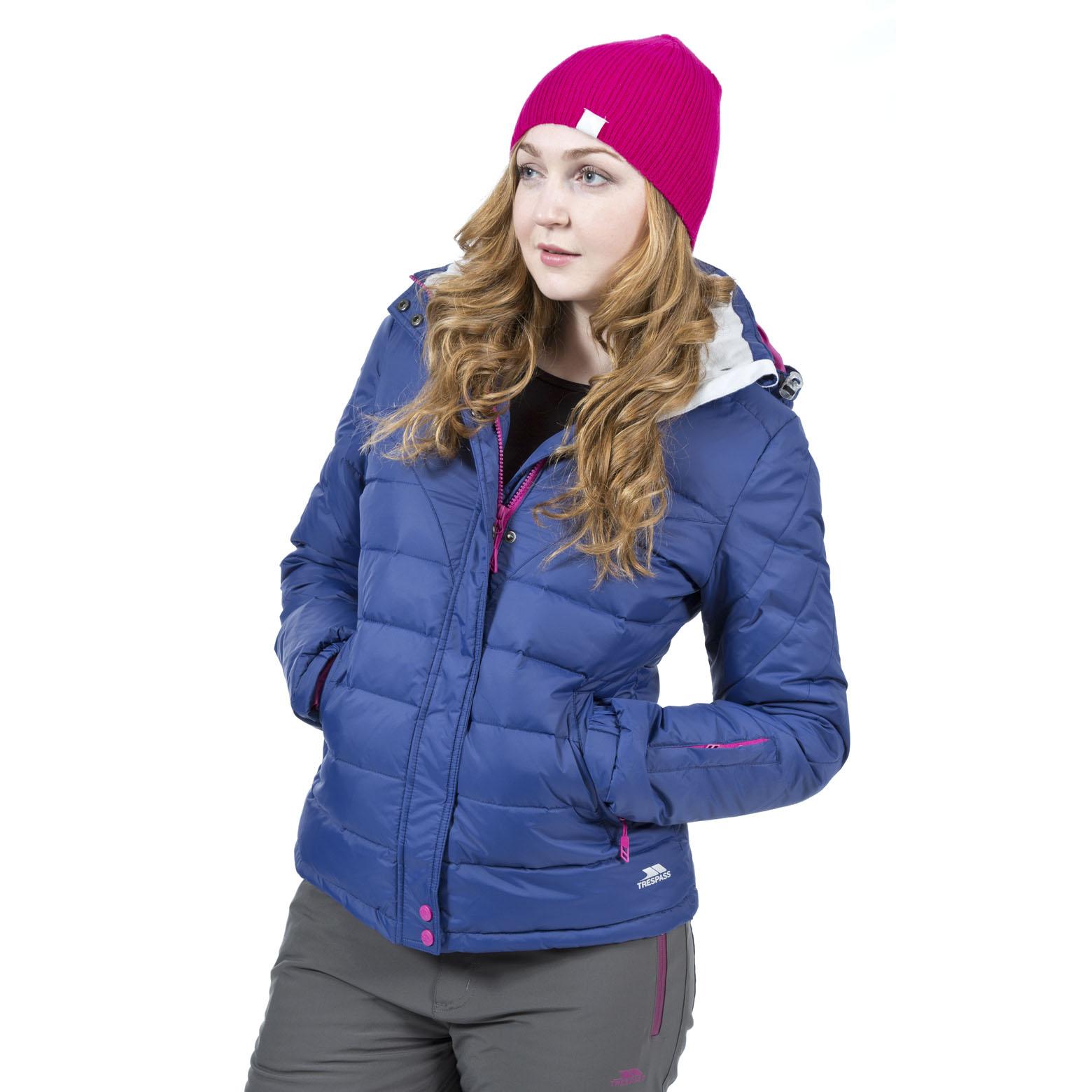 Trespass Cintia Womens Padded Down Jacket Ladies Lightweight Hooded Winter Coat