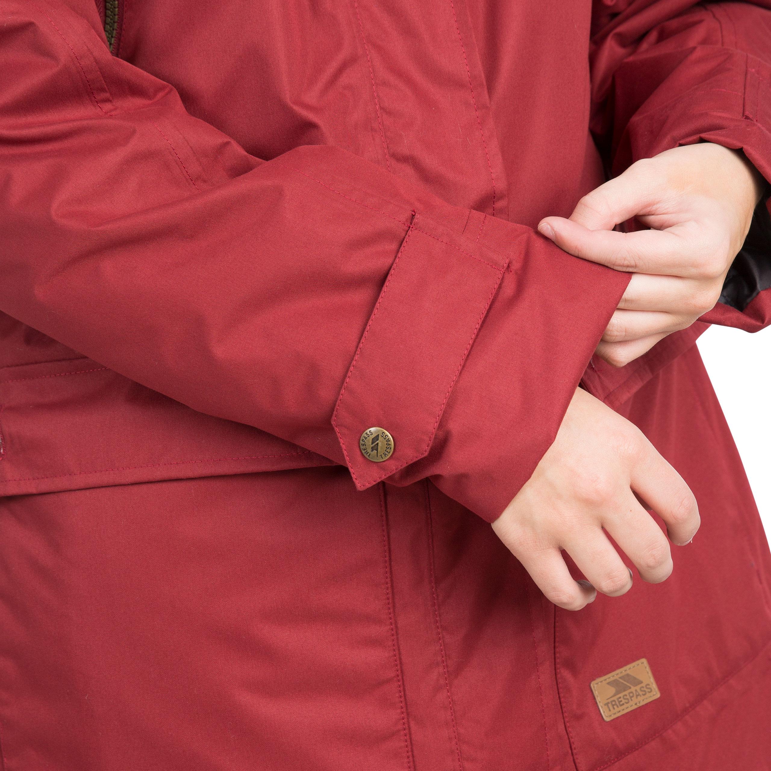 Trespass-Womens-Parka-Jacket-Waterproof-Hooded-Fur-Winter-Coat-XXS-XXXL thumbnail 19