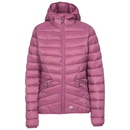 Trespass Womens Padded Jacket Alyssa in Mauve