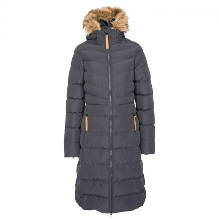 Trespass Womens Padded Jacket Casual Audrey in Black, Front view on mannequin