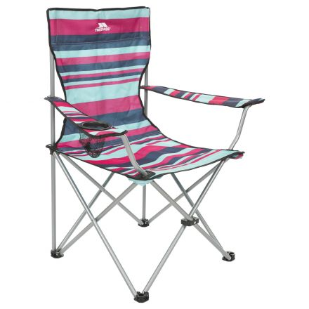 Trespass Folding Camping Chair Drinks Holder Branson Tropical
