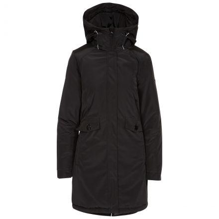 Trespass Womens Waterproof Jacket Quilted Lining Carolina Black