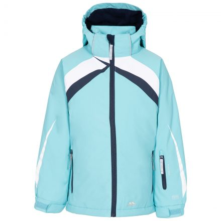 Trespass Kids Padded Ski Jacket Detachable Hood Distinct Aquamarine