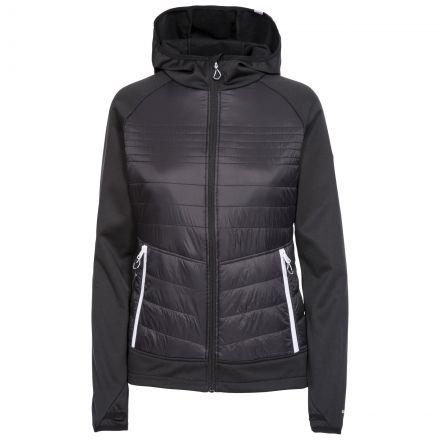 Trespass Womens Hybrid Fleece Hooded Full Zip Finito in Black