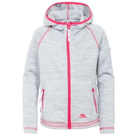 Goodness Kids' Full Zip Fleece Hoodie in Light Grey