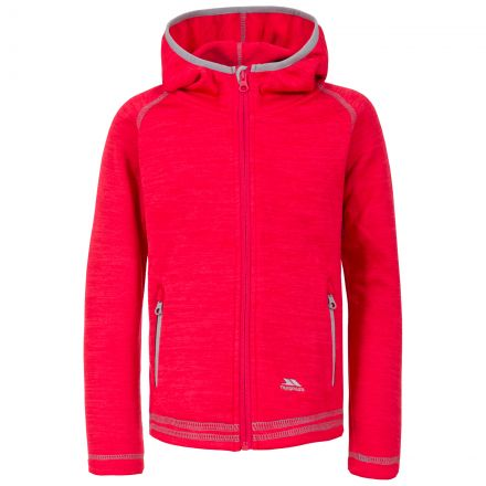 Goodness Kids' Full Zip Fleece Hoodie in Pink