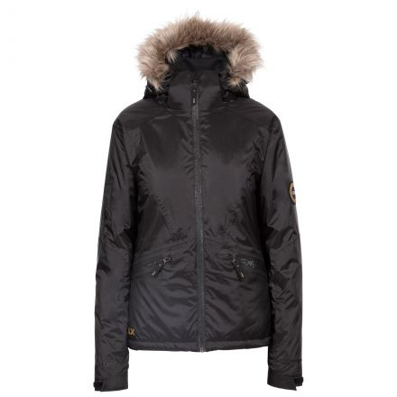 DLX Womens Ski Jacket with Recco Meredith in Black