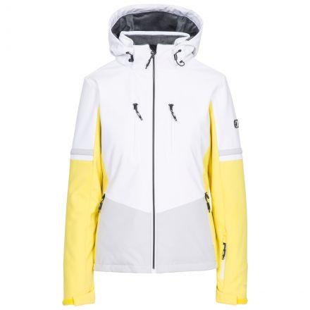 Trespass Womens Ski Jacket Slim Fit Mila in Yellow