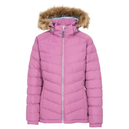 Trespass Womens Padded Jacket Hooded Nadina Mauve