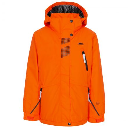 Trespass Waterproof Ski Jacket Padded Detachable Hood Rare Orange