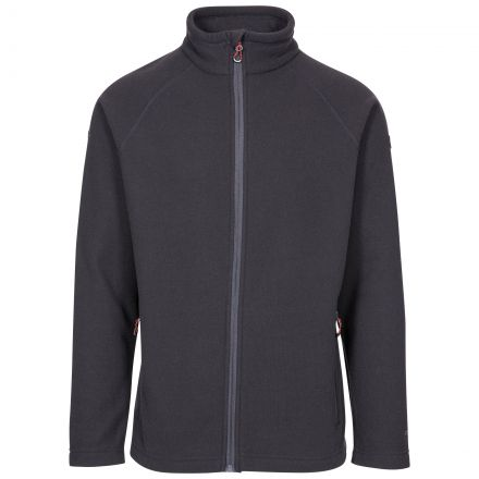 Trespass Adults Fleece Jacket Full Zip 2 Pockets Steadburn Grey