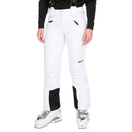 Sylvia Women's DLX Slim Fit Waterproof Salopettes in White