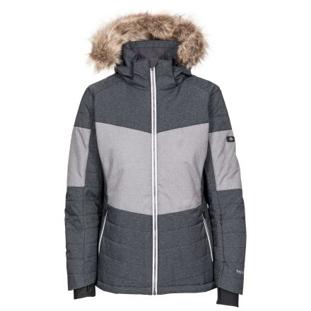 Tiffany Women's Ski Jacket in Black, Front view on mannequin