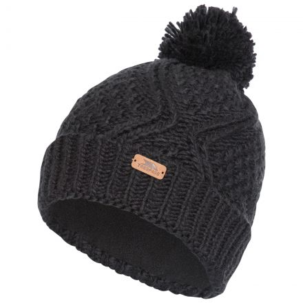 Zyra Adults Knitted Beanie and Slouch Hat in Black