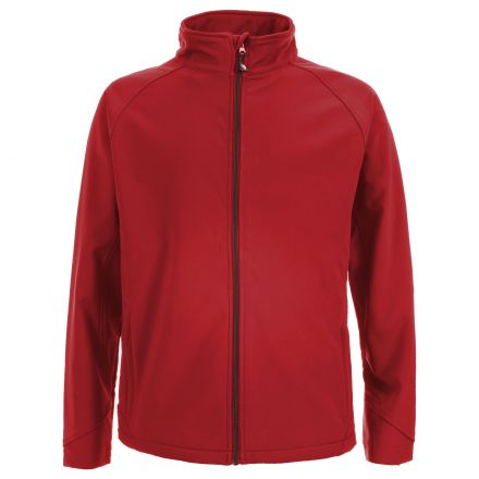 Akron Men's Softshell Jacket in Red