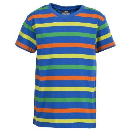Aled Kids' Round Neck T-Shirt in Blue