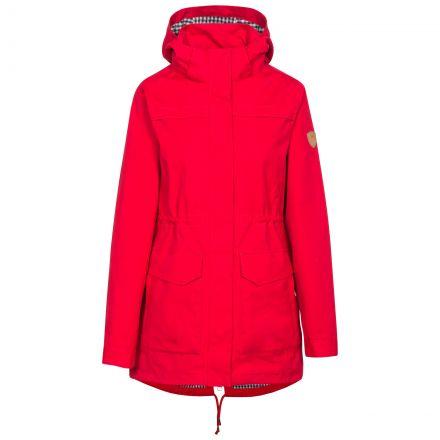 Trespass Womens Waterproof Jacket Hooded Amanita in Red