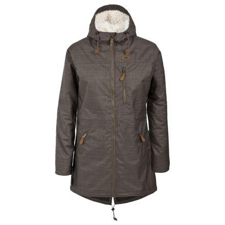 Anessa Womens Waterproof Parka Jacket in Brown
