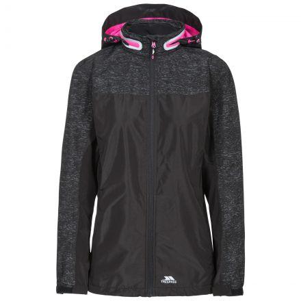 Trespass Womens Waterproof Jacket Breathable Attraction Black