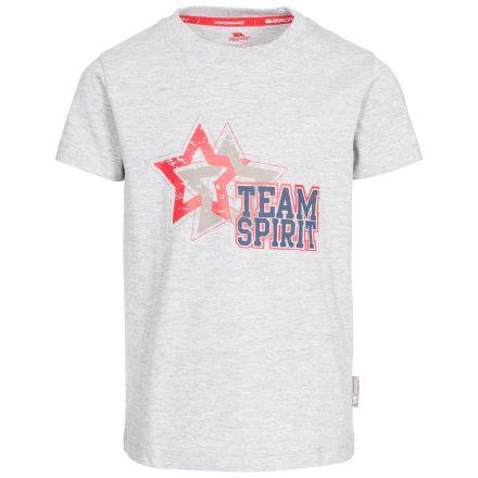 Awestruck Kids' Printed T-Shirt in Light Grey