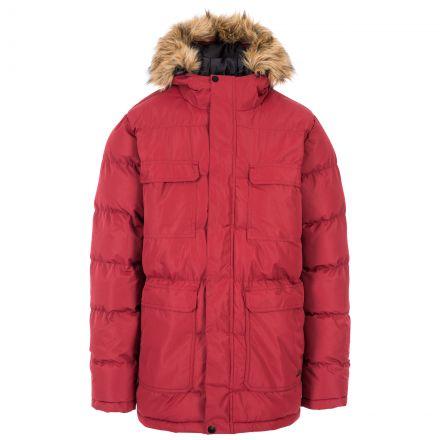 Baldwin Men's Padded Parka Jacket in Red
