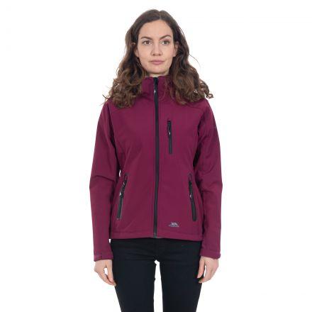 Bela II Women's Softshell Jacket in Burgundy