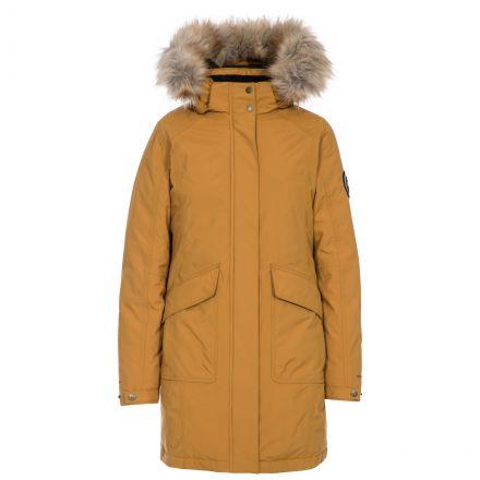 Bettany Women's DLX Waterproof Down Parka Jacket in Sandstone