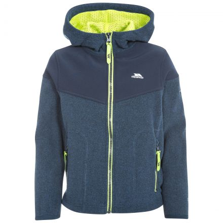 Bieber Kids' Full Zip Fleece Hoodie in Navy