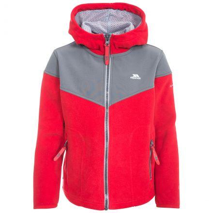 Bieber Kids' Full Zip Fleece Hoodie in Red