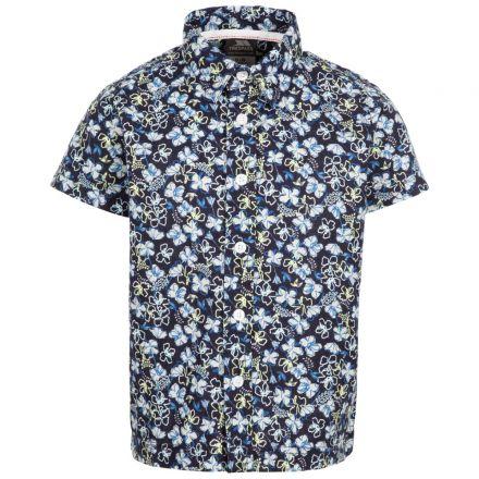 Bizaar Kids' Short Sleeved Cotton Shirt in Navy