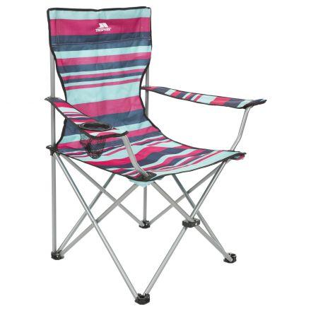 BRANSON Striped Folding Beach & Camping Chair in Navy