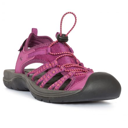 Brontie Women's Protective Drawstring Walking Sandals  in Burgundy