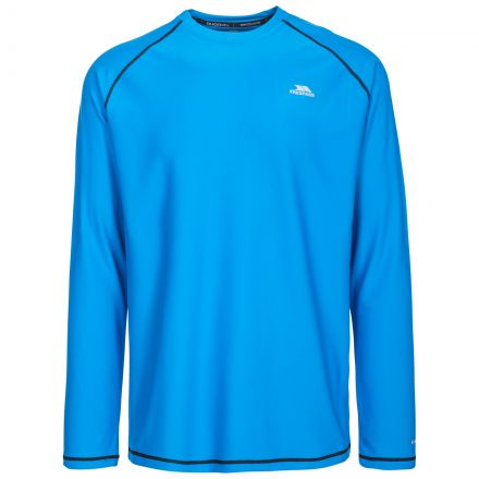 Burrows Men's Quick Dry Long Sleeve Active T-shirt in Blue