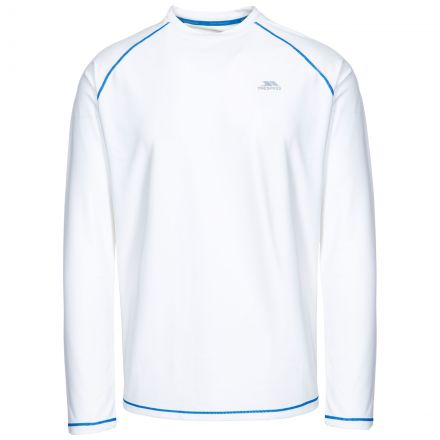 Burrows Men's Quick Dry Long Sleeve Active T-shirt in White
