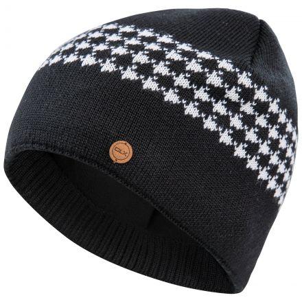 Capaldi Men's DLX Fleece Lined Beanie Hat in Black