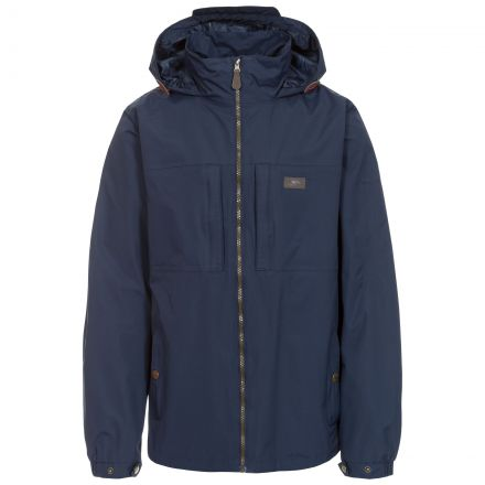 Cartwright Men's Hooded Waterproof Jacket in Navy