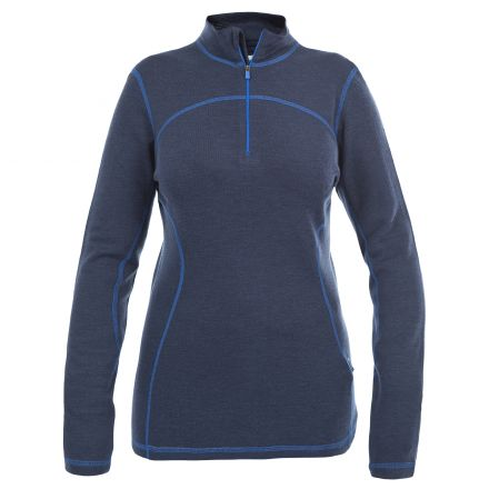 Cass Womens Merino Base Layer Top  in Blue